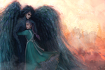 Howl's Moving Castle - Howl and Sophie by SaoriAiko