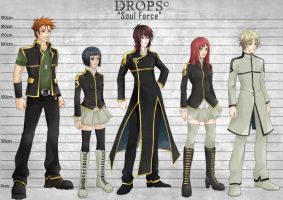 DROPS Characters Sheets GROUP by oOMellyChanOo