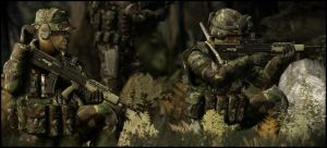 Royal Marines in some woods by ChestyMcGee