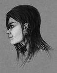 Head Study, Side by White-Tean