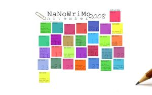 Nanowrimo 2008 calendar by alliicat