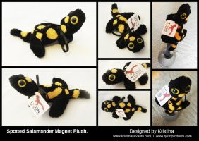 Spotted Salamander Magnet Plush by Tylon