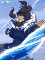 Korra WAterbender in THe South Pole by SolKorra