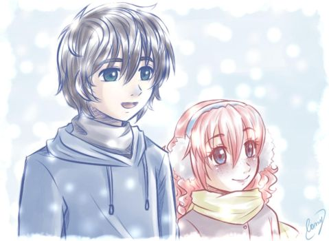 Winter- Sam and Lily by CamyWilliams9