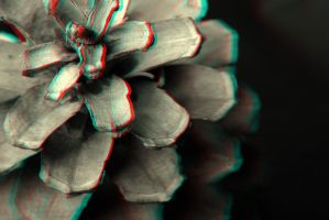 Pine Cone 3-D conversion by MVRamsey