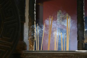 Burning Incense by Danwhitedesigns