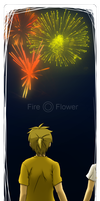 fire flower-bookmark by m0rning-gl0ry