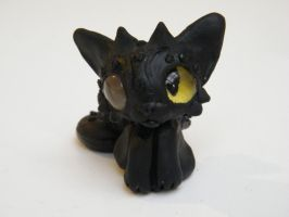 Chibi toothless cat by MonsterkittenCrafts