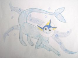 Vaporeon by Death-By-Insanity