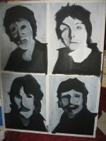 Wip: The Beatles 01 by XavierJonesArt