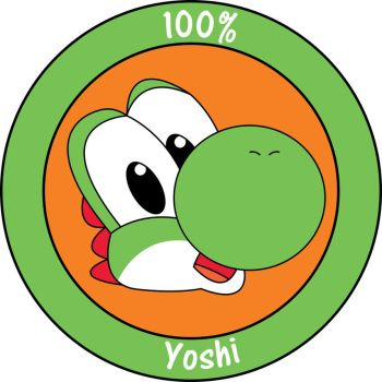 100% Yoshi Badge by TheCrescentFox