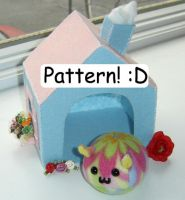 Puggle House Pattern by callykarishokka