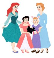 DISNEY MOMS AND DAUGHTERS by eliathans