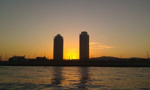 Barcelona sunset by allixsenos