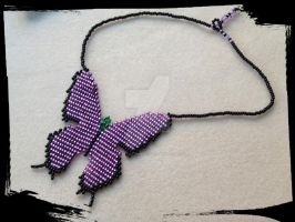 Butterfly Necklace, Lavender by WhiteMagicPriestess