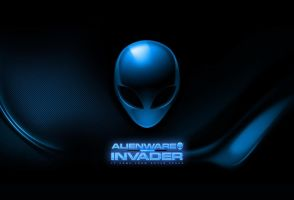 Blue alienware invader colorful by darkangelkrys