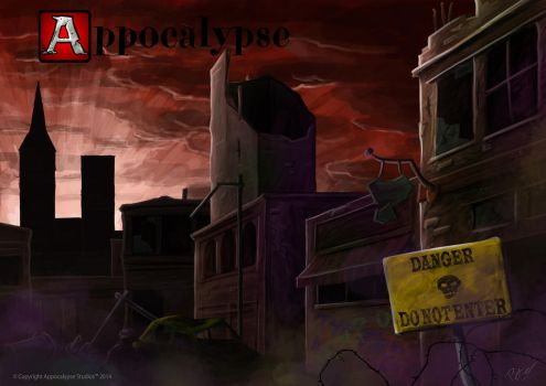 Appocalypse Wallpaper - Abandoned Town by RidderCoenraad