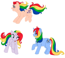 Rainbow Ponies by Masqueadrift