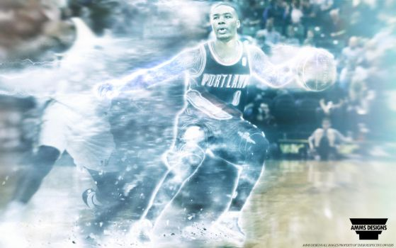 Damian Lillard 'Blazer' Wallpaper by AMMSDesings