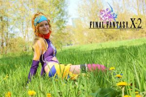 FF X-2 - sitting in the gras by AlBhedNika