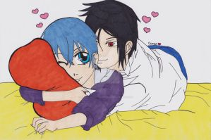 Sebastian and Ciel cuddle...... by small-yeast-dumpling