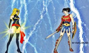Miss Marvel vs Wonder Woman by rafabruno0