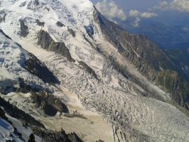 glacier on the mountain mont blanc in france by erodinam