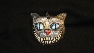 Cheshire Cat Necklace by GabriellesBabrielles