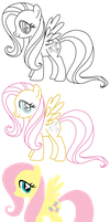 Fluttershy Vector,Trace test by AxemGR