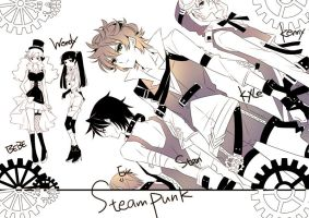 Steampunk AU 2 by giobobobo