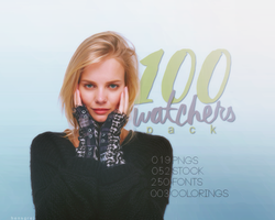 Hensgrej's 100 Watchers Pack! by ohnoesflorence