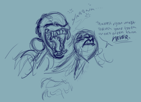 Mau Yawns Right in Agarista's FACE by meeoh