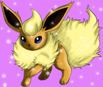 Shiny flareon has appeared by Silver-she-wolf-14