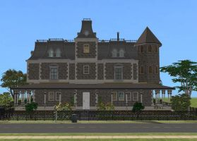 Sims 2 Victorian mansion by RamboRocky