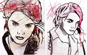 Gerard Way- Seeing Double by Medicated-Kitty