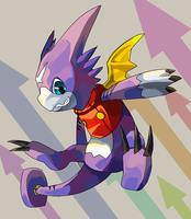 Gumdramon by Garmmon