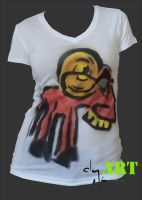 Ramsel Sprayed Tee by clayolsonart