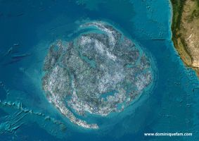 Island of recycled plastics by dominiquefam