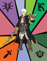 Stained Glass - Robin (SSB4) by EonMon