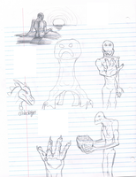 Enderman Sketches and Stuff by FireDragon97