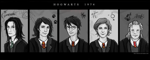 Hogwarts 1974 Yearbook by sikuriina