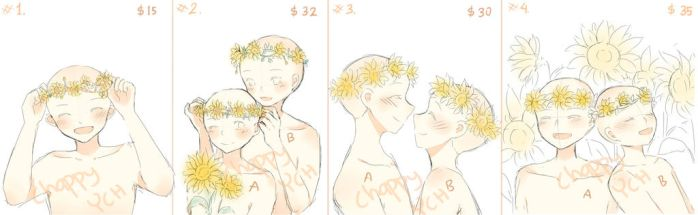 (CLOSED) YCH SunflowerCrown - set price by ChappyVII
