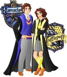 Art trade: Ariela and Jaimy at hogwarts by Willemijn1991