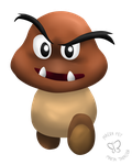 Daily Drawing #6: A Goomba Coming Straight at You by MaeraFey