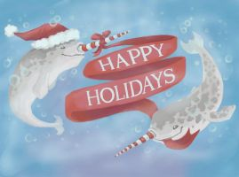 MERRY NARWHAL CHRISTMAS by TasmanianTiger