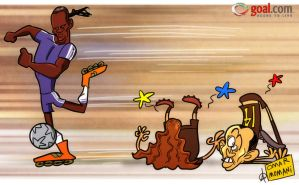 Didier leaves the Barca Boys trailing in his wake by OmarMomani