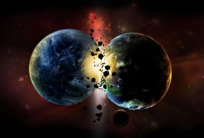 Planets Collide by ThornErose