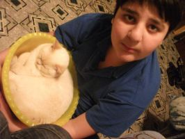 Brother and Cat by Mizecki