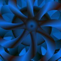 the blue pinwheel by GLO-HE