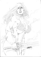 Red Sonja jan 2010 by JeanSinclairArts